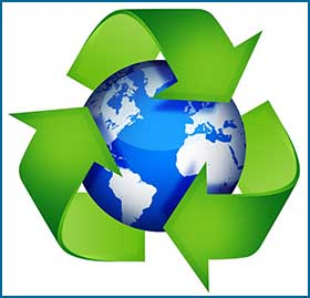 recycle and ttop waste to help protect the environment