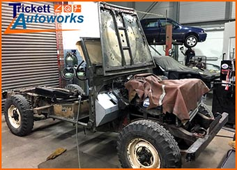 4x4 off-road vehicle restoration