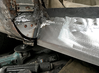 motor vehicle structural welding